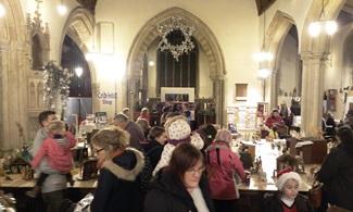 Crowded church for Nativity Crib Festival